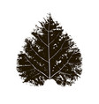 leaf print vector image vector image