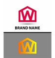 Letter W logo icon vector image vector image