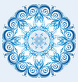 light blue element of the ornament vector image