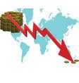 market crash vector image