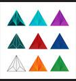 modern geometric polygon triangle pyramid logo sym vector image vector image