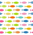 Mult Fish Seamless Pattern Background vector image vector image