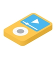 Music player isometric 3d icon vector image