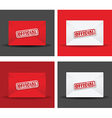 official envelope set vector image vector image