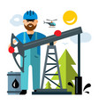 oil industry flat style colorful cartoon vector image vector image
