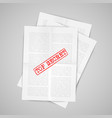 paper note with warning sign vector image vector image