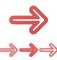 Red line arrow logo design set vector image vector image