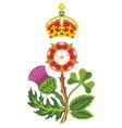 royal badge of uk of great britain vector image vector image