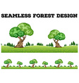 Seamless background design with trees in the field vector image vector image