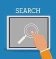 Search icon design vector image vector image