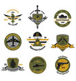service insignia emblem collection vector image vector image