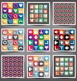 set icons of the arrows vector image