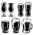 set of beer mugs design elements for logo label