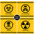 set of grunge danger banners vector image vector image