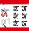 shadow activity game with insect characters vector image vector image