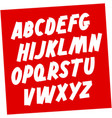 soviet style brush font editable alphabet vector image vector image