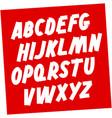 soviet style brush font editable alphabet vector image