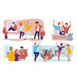 students partying in university or college vector image vector image