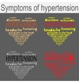 symptoms of hypertension vector image vector image