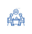 teamwork line icon concept teamwork flat vector image vector image