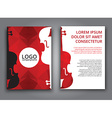 Template music polygonal brochure vector image
