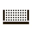 tennis court net icon glyph vector image vector image