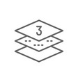 three-layer napkin paper line icon vector image vector image