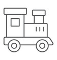 train toy thin line icon child and railroad vector image
