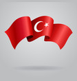 Turkish waving Flag vector image vector image