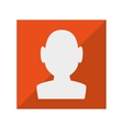 user silhouette button icon vector image