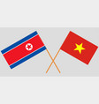 vietnam and north korea flags vector image