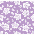 white flower fabric print seamless pattern vector image