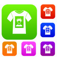 white shirt with print of man portrait set vector image vector image