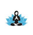 woman doing yoga design vector image vector image