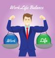 work life balance crystal balls hanging on arms vector image