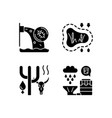 worldwide rising water demand black glyph icons vector image