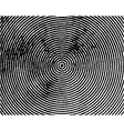 Black concentric circles grungy vector image