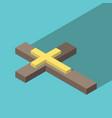 isometric christian cross vector image