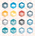 Weather Web Icons and Buttons vector image