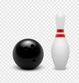Tenpin Bowling Icon Set vector image