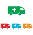 ambulance sign colorful set vector image vector image