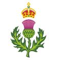 badge of scotland vector image