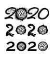ball 2020 new year numbers vector image vector image