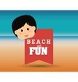 Beach design vector image