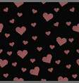 beautiful seamless pattern with pink hearts on vector image