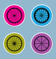 bicycle wheel icon set vector image vector image