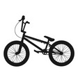 bmx bicycle silhouette vector image vector image