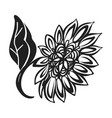 bright sunflower icon simple style vector image