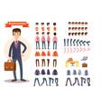 businessman cartoon personage generator vector image vector image