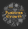 chalk board concept - business growth vector image